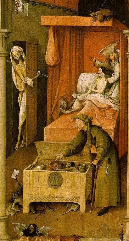 A Nau dos Insensatos, detalhe. Hyeronimus Bosch (1450 — 1516).