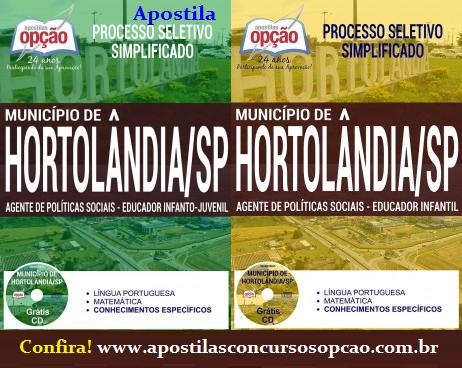Apostila Prefeitura de Hortolândia SP - Agente de Políticas Sociais