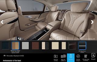 Nội thất Mercedes Maybach S650 2019 màu Vàng Silk/Deep-Sea Blue (962)