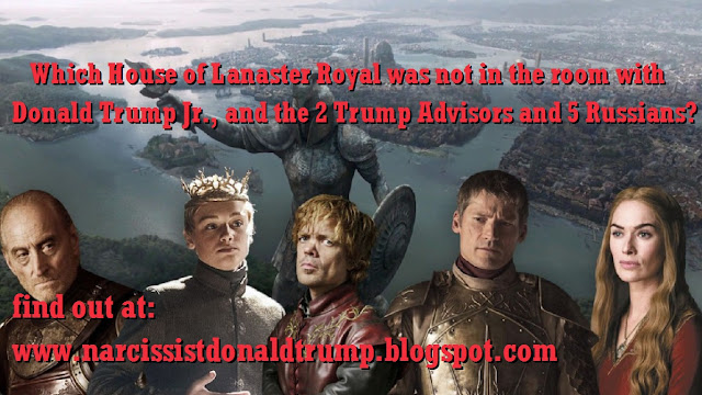 3 Which House of Lanaster Royal was not in the room with Donald Trump Jr., and the 2 Trump Advisors and 5 Russians?       find out at: http://bit.ly/2r4WWpl    House of Lanaster, er...uh....House of Trump