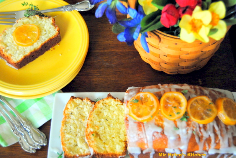 Candied Lemon Thyme Bread