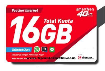Harga Dan Pembagian Kuota Voucher Data Smartfren 16 GB Terbaru