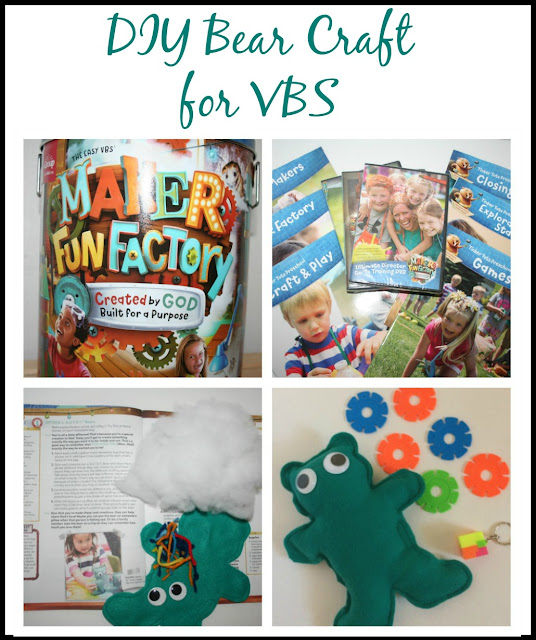 Make your VBS unforgettable with Maker Fun Factory and a GUTSY Bear craft.