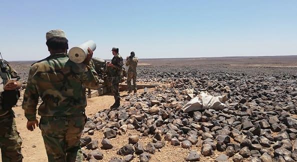 """الجيش يواصل عملياته العسكرية ويضييق الخناق على إرهابيي """"داعش"""" في تلول الصفا بريف السويداء الشرقي"""
