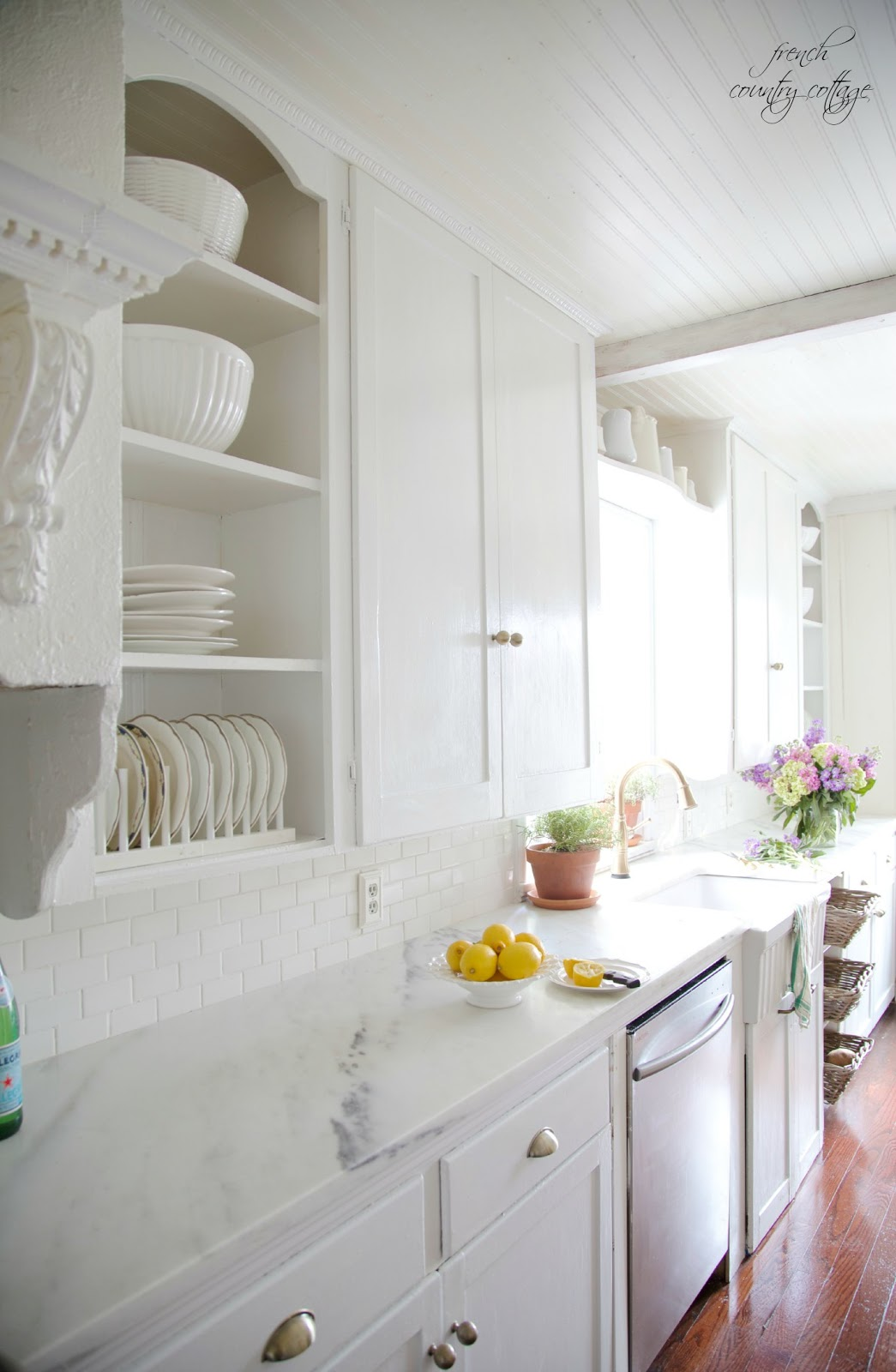 Why I Love The Beautiful Marble Countertops In Our Vintage Kitchen French Country Cottage