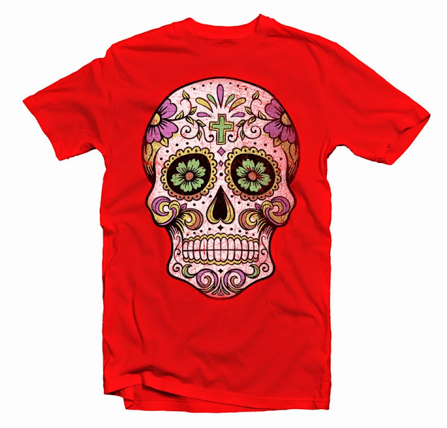 sugar skull tshirt designs