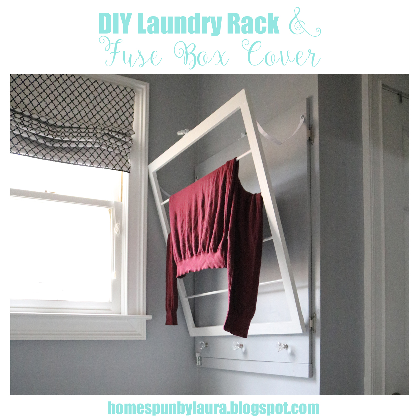 Diy Laundry Rack Fuse Box Cover Homespun By Laura Dryer Drying And