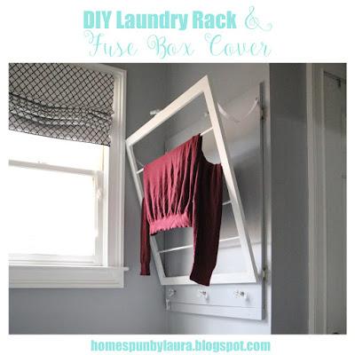 DIY Laundry Rack & Fuse Box Cover