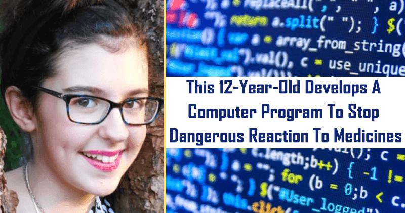 Anak 12 Tahun ini Membuat Program untuk Menghentikan Reaksi Berbahaya pada Obat-obatan