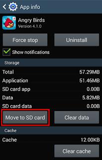 Cara Memindahkan Aplikasi Android ke memori SD Card