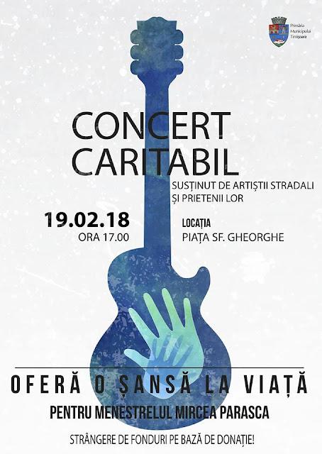 Concert Caritabil pentru Mircea Parasca în Piața Sfântul Gheorghe