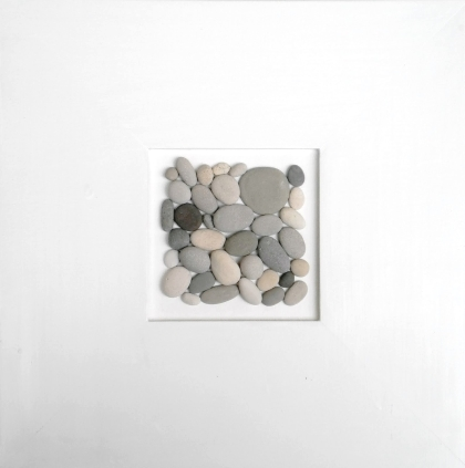 stylish framing of beach pebbles
