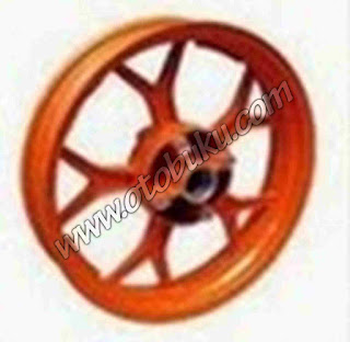 Photo Velg CHEMCO NINJA 250 Fi Triple Disc (Double Disc Dpn) 300-450 Warna Oren