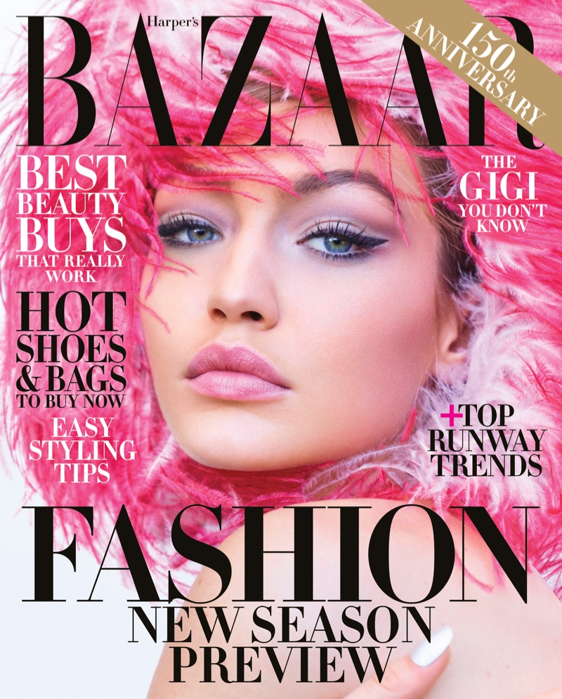 Gigi Hadid Stars in Harper's Bazaar June/July 2017 Issue
