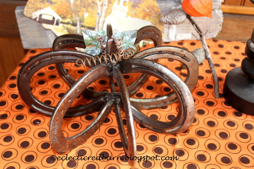 Horse shoe pumpkin