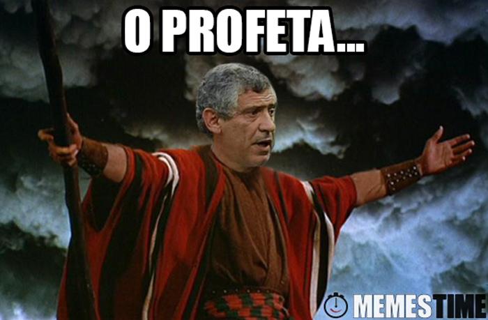 Meme Fernando Santos como Moisés – O Profeta!