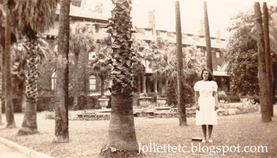 Unidentified woman Hotel Alcazar in St. Augustine, Florida  https://jollettetc.blogspot.com