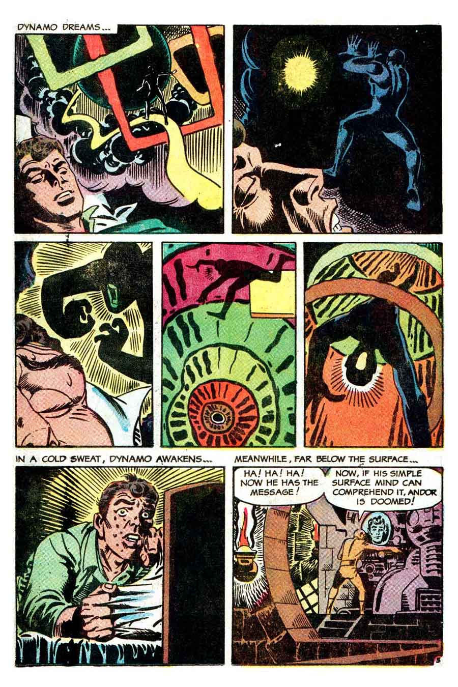 Thunder Agents v1 #16 tower silver age 1960s comic book page art by Steve Ditko