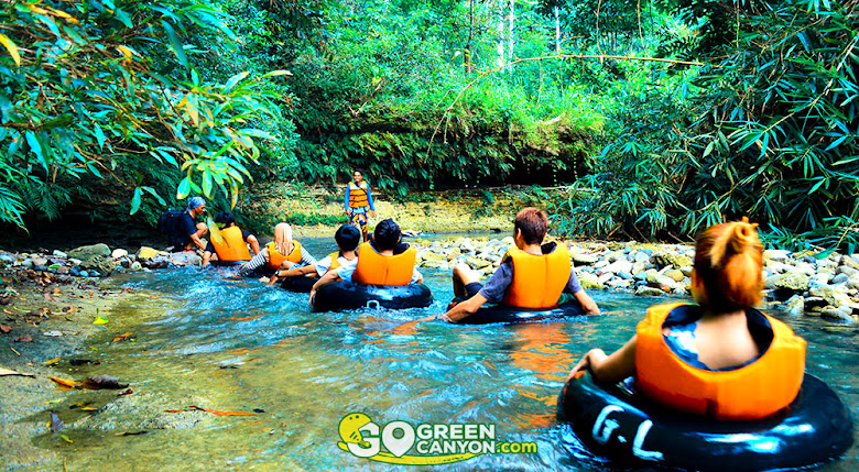 river tubing di gua lanang selasari pangandaran