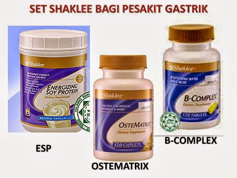 esp, ostematrix, bcomplex, vitamin gastrik shaklee, supplemen gastrik shaklee, pengedar set gastrik shaklee,