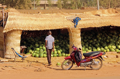 Watermelon for sale in West Africa