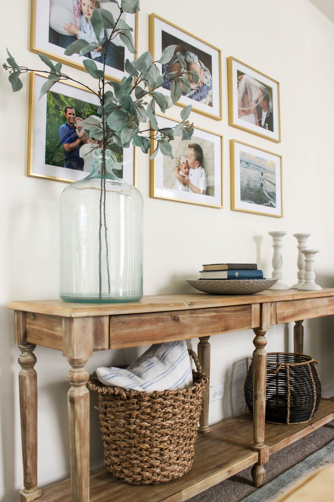 decorating above a console table