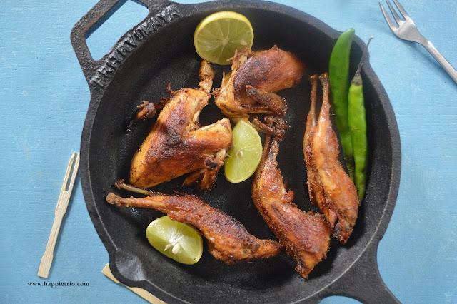 Quail Fry Recipe | Kaada Fry