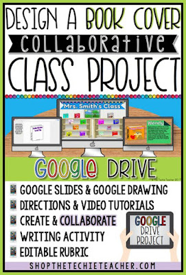 "Create a Book Cover in Google Drive to add to a collaborative and INTERACTIVE bookshelf on a Google Slides presentation! Great for 1:1 classrooms OR schools that have access to Chromebooks or laptops. This project would be a great addition to your March Reading Month celebration!  Students will design a book cover in Google Drawing, They will save and add their book to a collaborative Google Slides presentation that contains an image of two different bookshelves. Students will hyperlink their book cover to a different slide within the presentation (directions are included). On this slide students will type a description of their book. Each slide contains a ""home"" icon that will take you back to the main slide. Once all of the students have added their image and description they can put the presentation in presentation mode to present. The hyperlinks in this presentation will make it very interactive!"