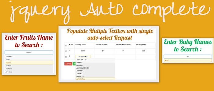 jQuery Autocomplete Search using Ajax, MySQL and PHP