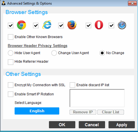 How to set IP based on browser