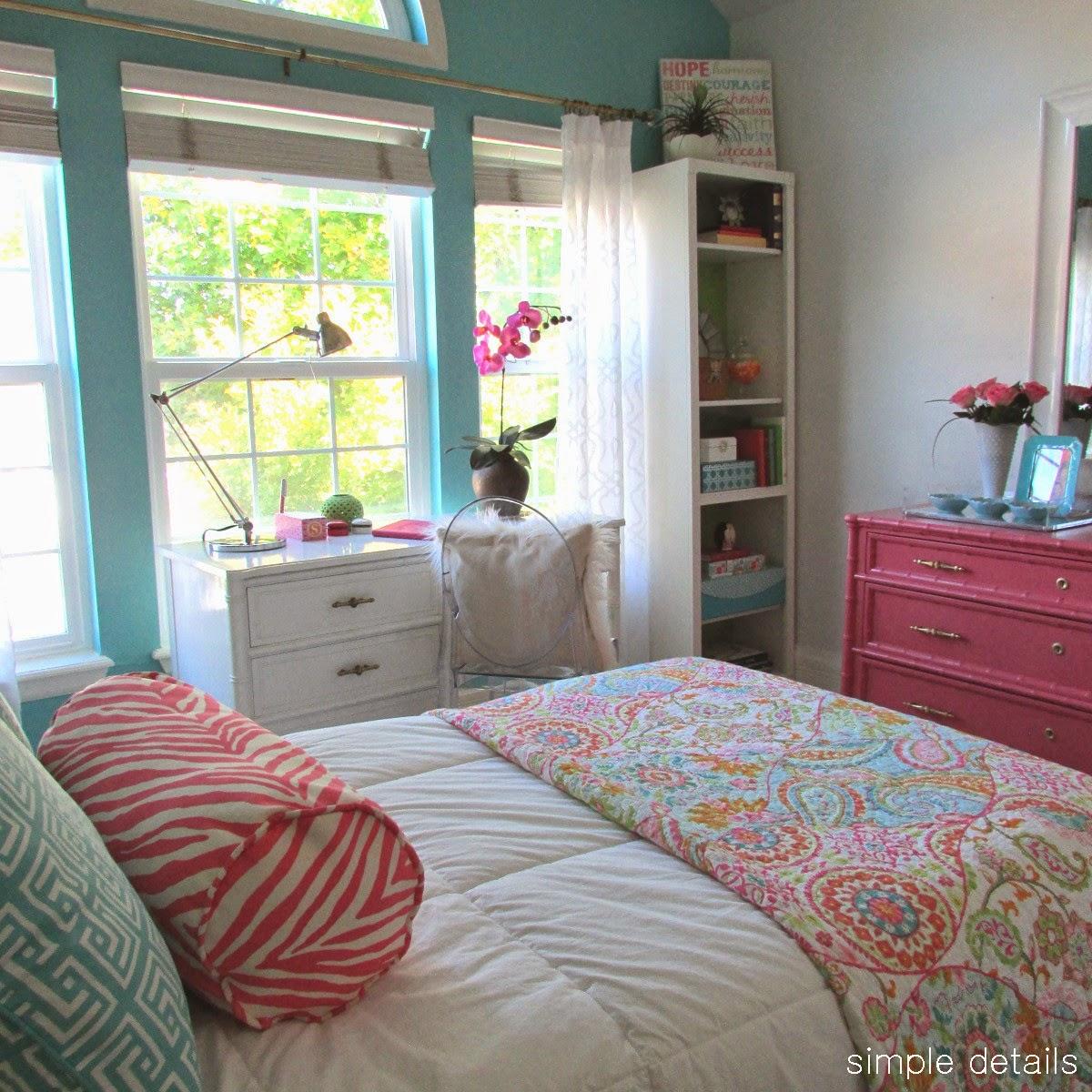 Girls Room: Simple Details: Fresh Modern Teen Girl's Room