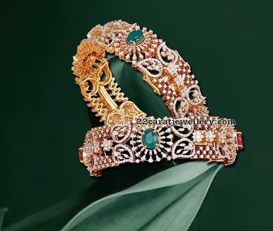 Grand Diamond Sets and Bangles in Mango Design