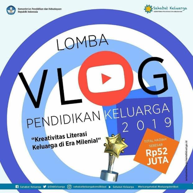 [Gratis] Lomba Vlog Pendidikan Keluarga 2019 di Kemendikbud