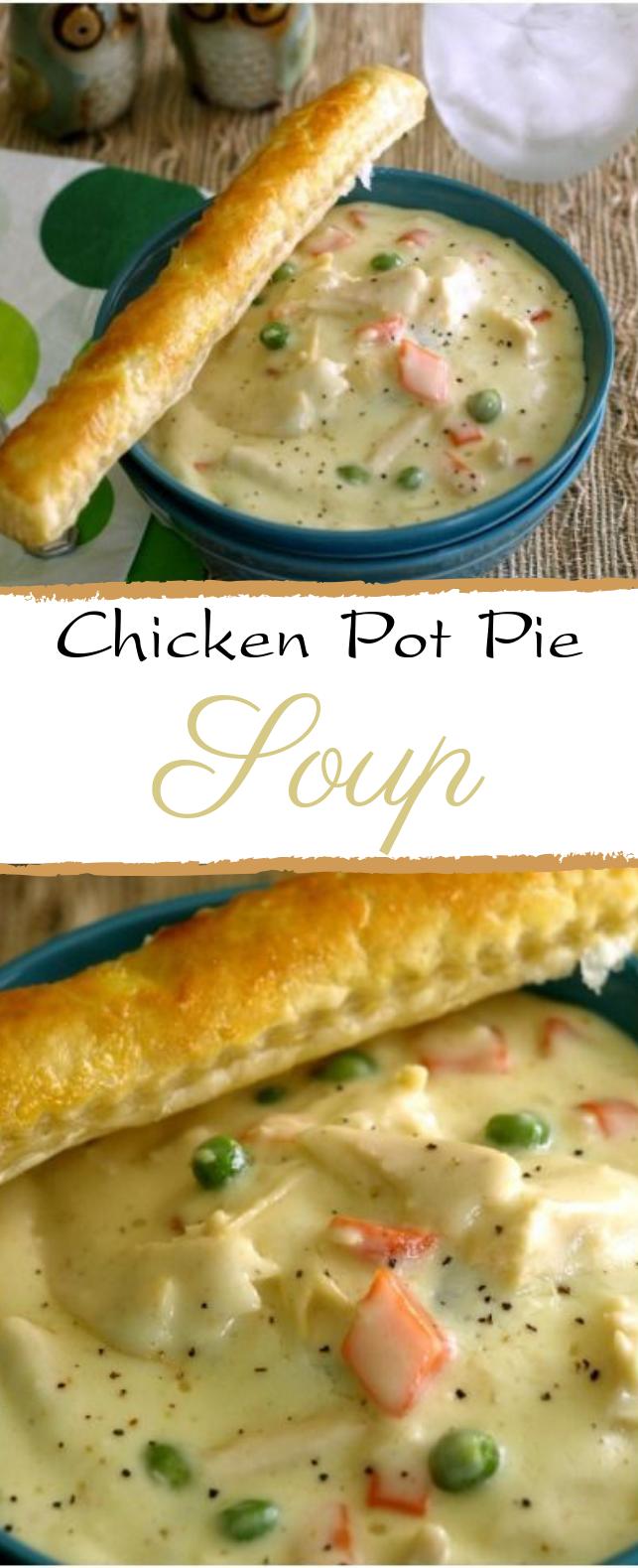 Chicken Pot Pie Soup #dinner #soup
