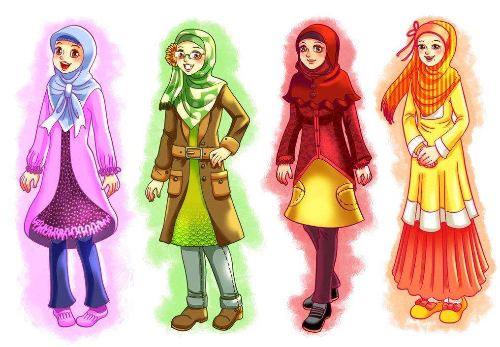 Wallpaper Android Iphone Wallpaper Gambar Kartun Muslimah Keren
