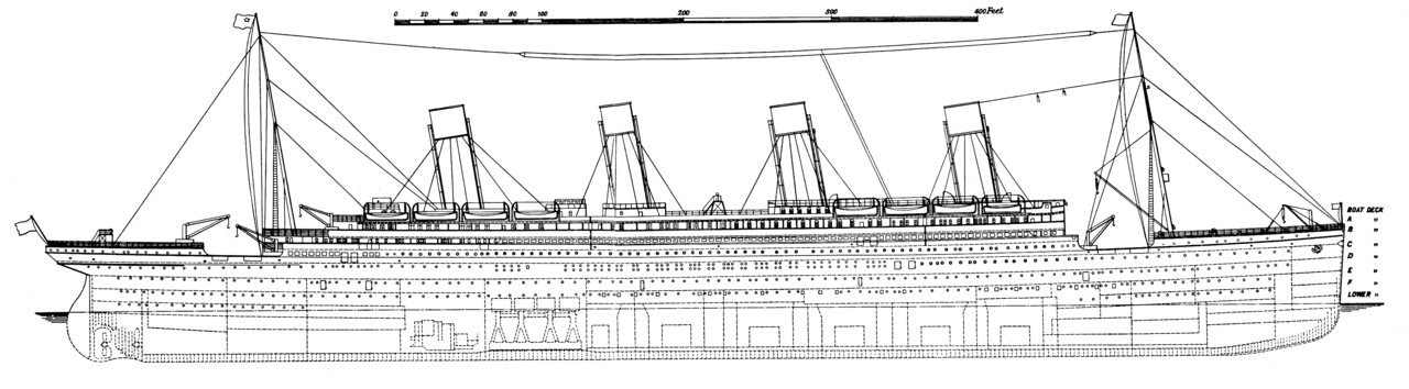 rms titanic side plan