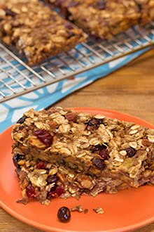 Banana Pear Chewy Granola Bars