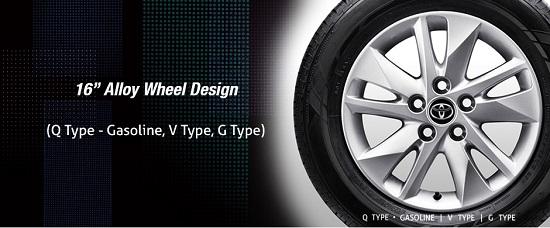 """16"""" Alloy Wheel Design (Q Type Bensin, Tipe V, Tipe G)"""