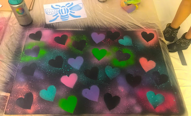 Graffiti Hearts Board