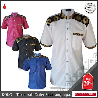 KKO13 SPT845 Baju Koko Batik Pendek Hiklas BMGShop