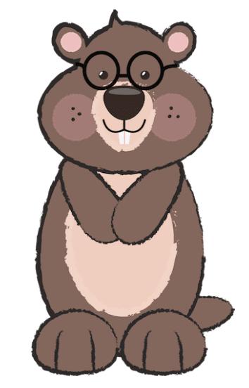 Free Groundhog Clipart by GO Designs. GradeONEderfulDesigns.com