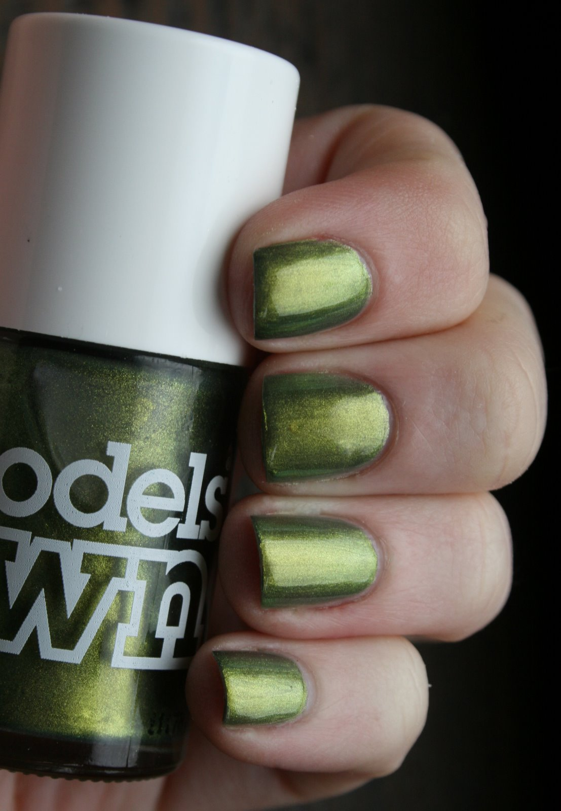 Models Own Golden Green Swatch