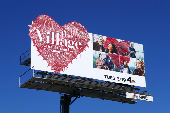 The Village series launch billboard