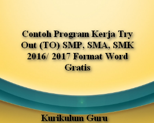 Contoh Program Kerja Try Out (TO) SMP, SMA, SMK 2016/ 2017 Format Word Gratis