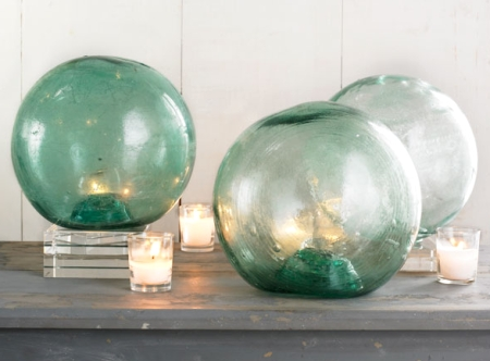Christmas Decorating With Fishing Glass Floats As