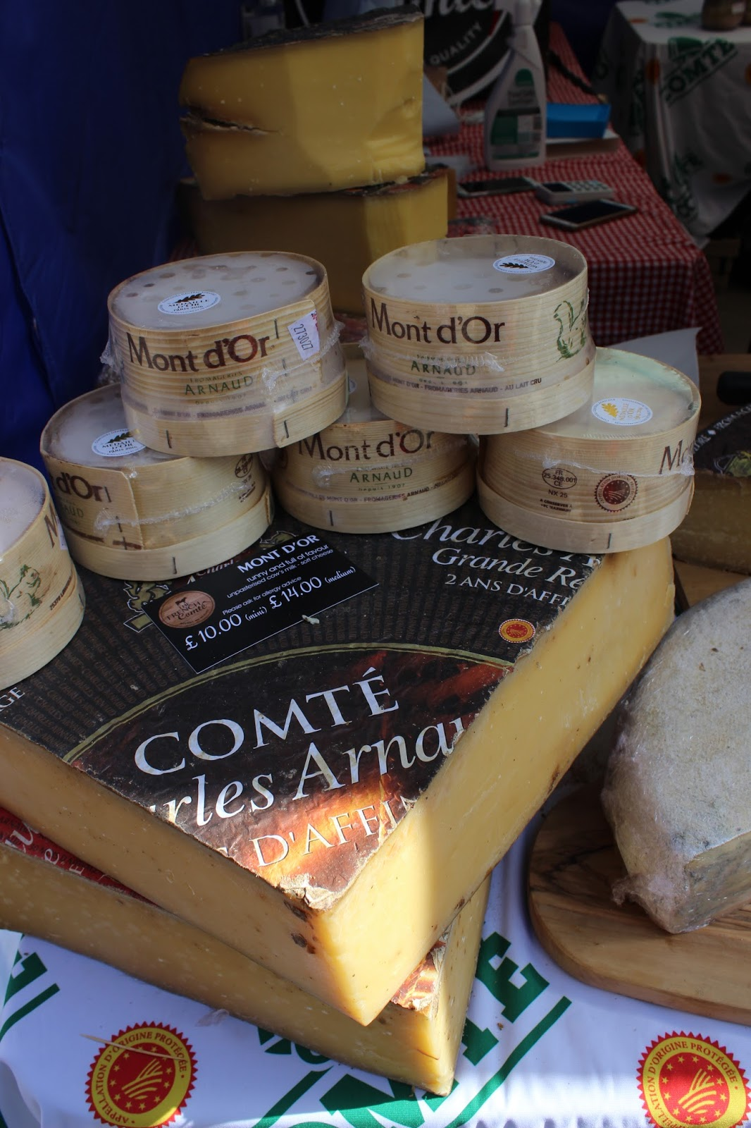French Comte cheeses