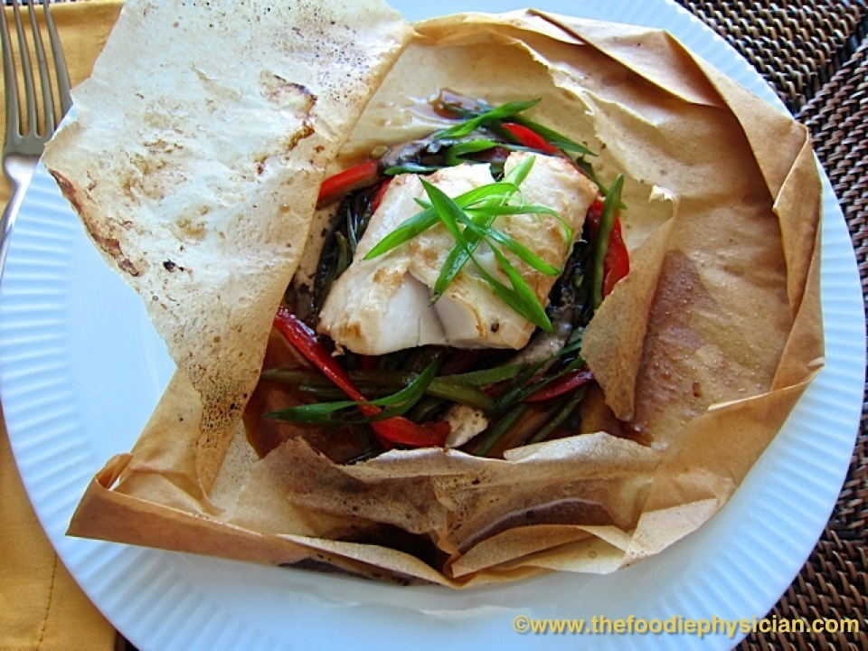 Dining With The Doc Asian Black Cod En Papillote The Foodie Physician