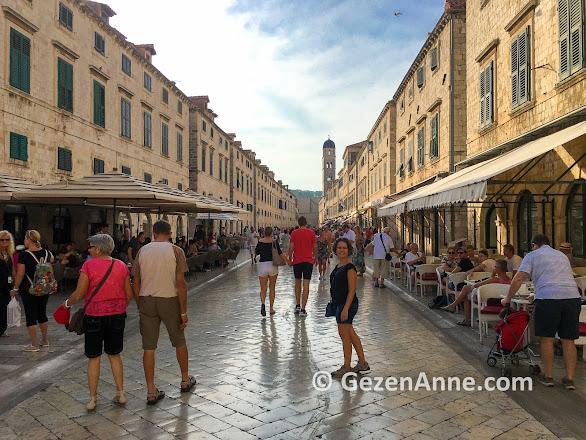 Dubrovnik old town sokakları, Hırvatistan