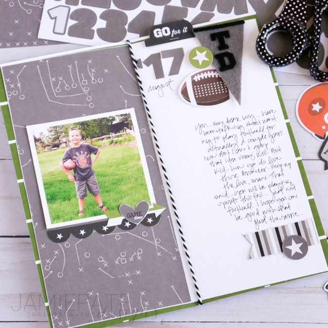 How To Create a Sports Traveler's Notebook by Jamie Pate  |  @jamiepate for @bellablvd