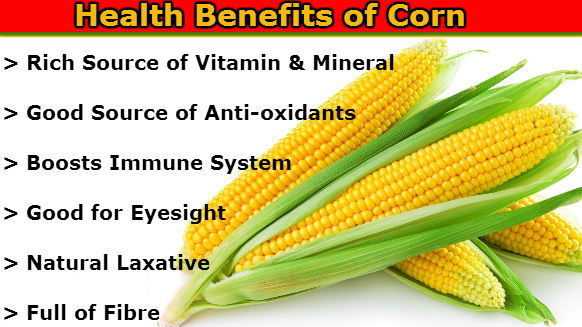 health benefits eating corn